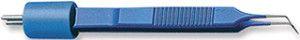 Е4062-СT. Пинцет изолированный изогнутый глазной, общая длина 8,9 см, ширина кончиков браншей 0,5 мм.