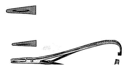Рис. 4. Иглодержатель Матье (по: Medicon instruments, 1986).